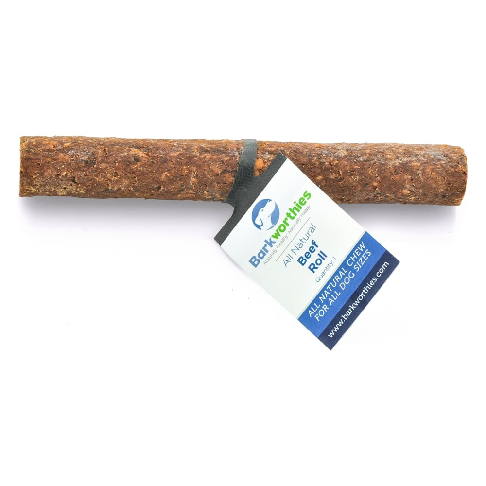Barkworthies - Beef Roll Dog Chew, 6in