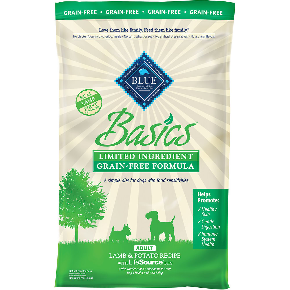 Blue Buffalo - Basics Limited Ingredient Lamb & Potato Recipe Grain-Free Dry Dog Food, 24lb