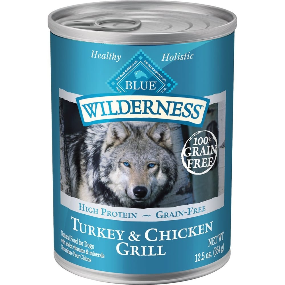 Blue Buffalo - Wilderness Turkey & Chicken Grill Grain-Free Canned Dog Food