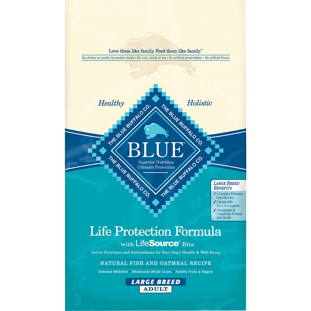 Blue Buffalo - Life Protection Formula Large Breed Fish & Oatmeal Recipe Dry Dog Food, 30lb