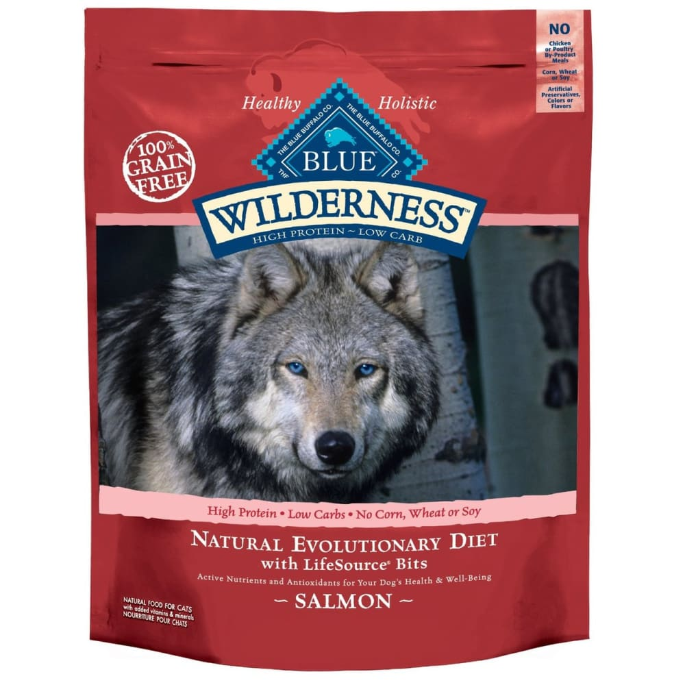Blue Bufflao - Wilderness Grain Free Salmon Adult Dog Food Recipe