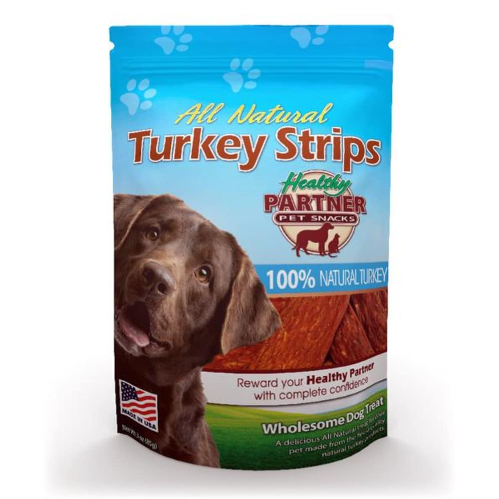 Healthy Partner - All Natural Turkey Strips Grain-Free Dog Treat, 3oz