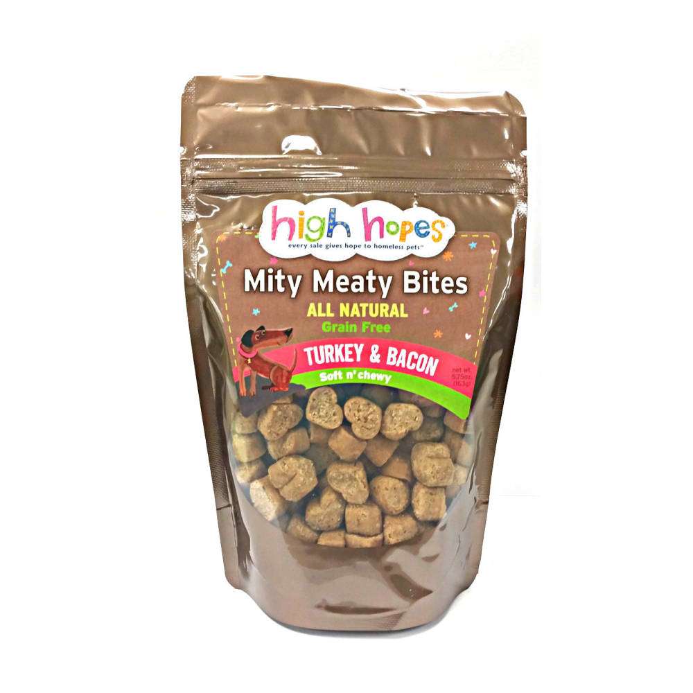 High Hopes - Mity Meaty Bites Turkey & Bacon Grain-Free Dog Treat, 5.75oz