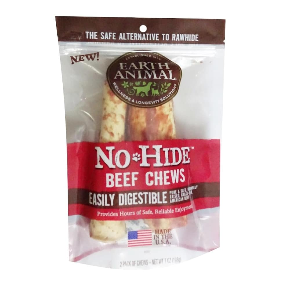 Earth Animal - No-Hide Easily Digestable Beef Chews 2 Pack Dog Chews