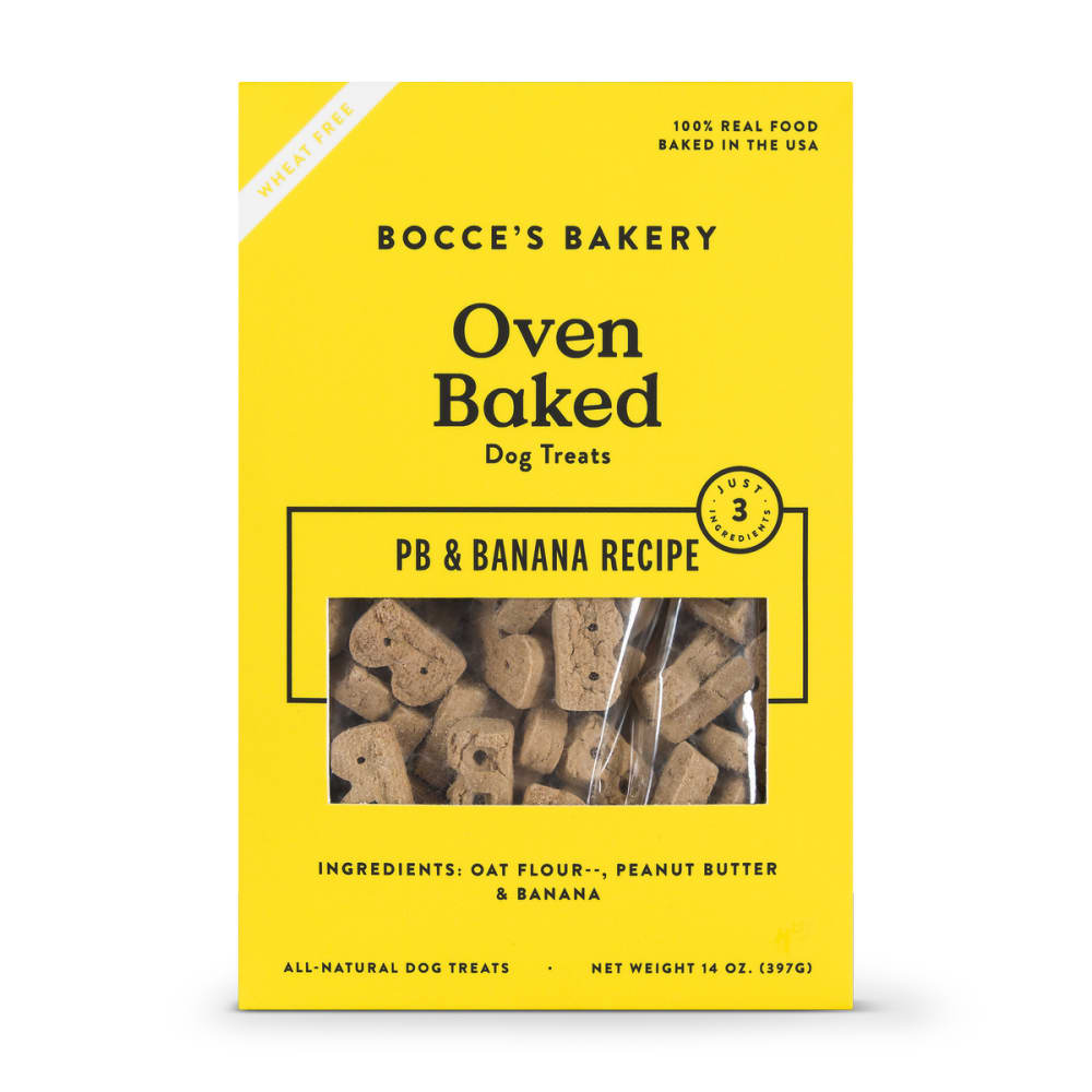 Bocce's Bakery - All Natural Peanut Butter & Banana Buscuits Dog Treats, 14oz