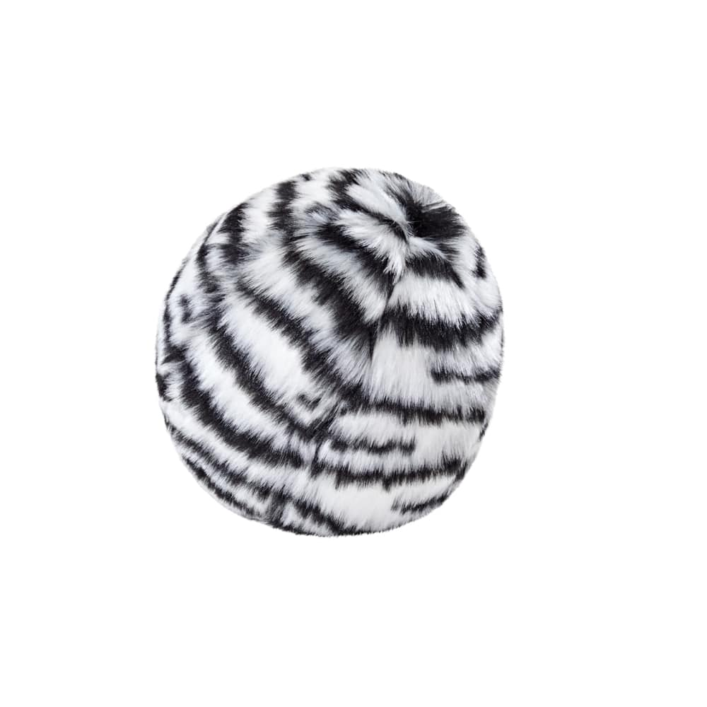 Fluff & Tuff - Zebra Ball Durable & Ultra Plush Dog Toy, 4in