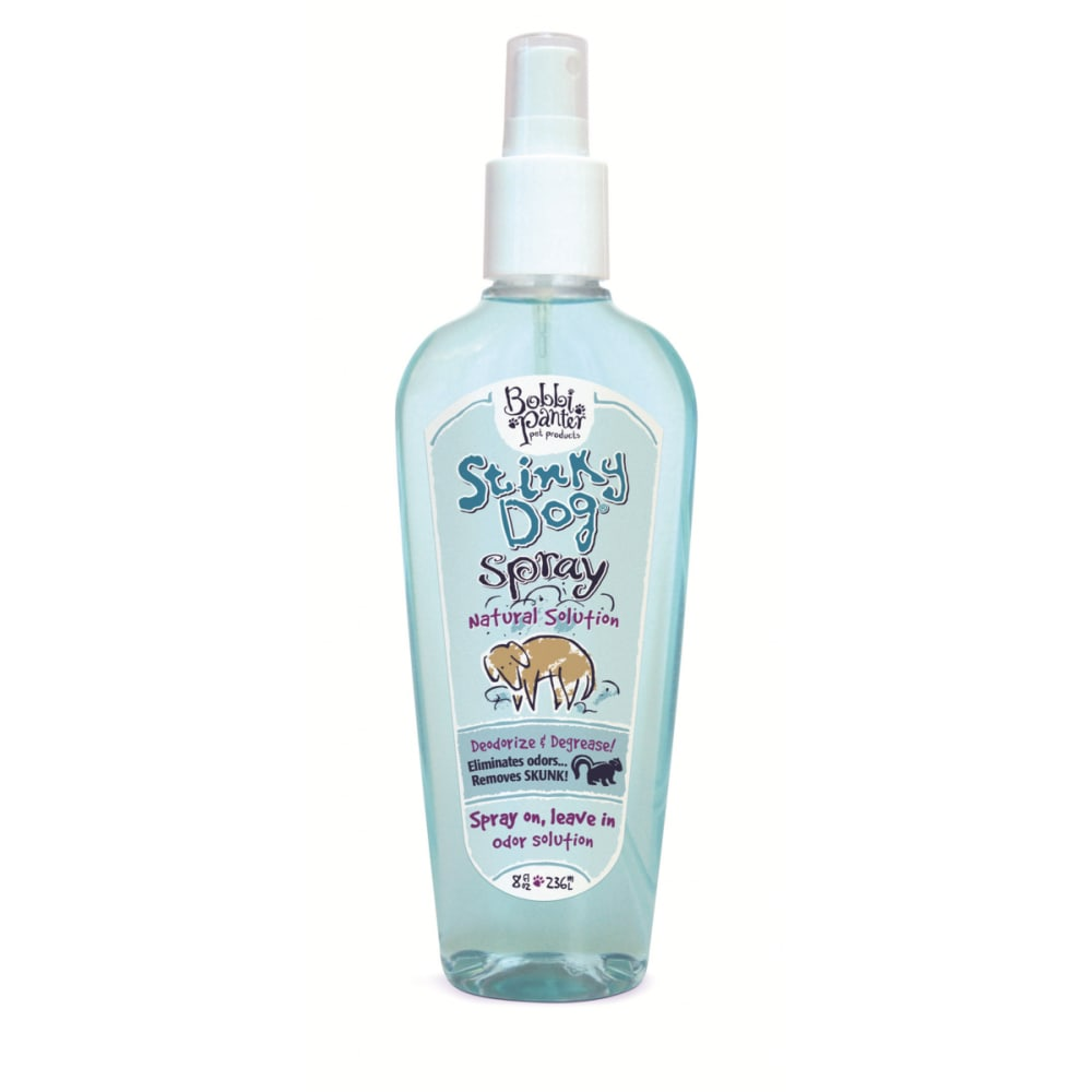 Bobbi Panter Pet Products - Stinky Dog Natural Deodorizing & Degreasing Spray On, Leave On Dog Coat Spray, 8oz