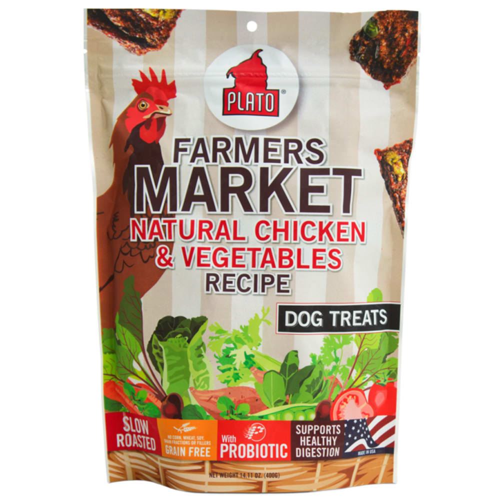 Plato - Farmers Market Natural Chicken & Vegetables Grain-Free Dog Treats