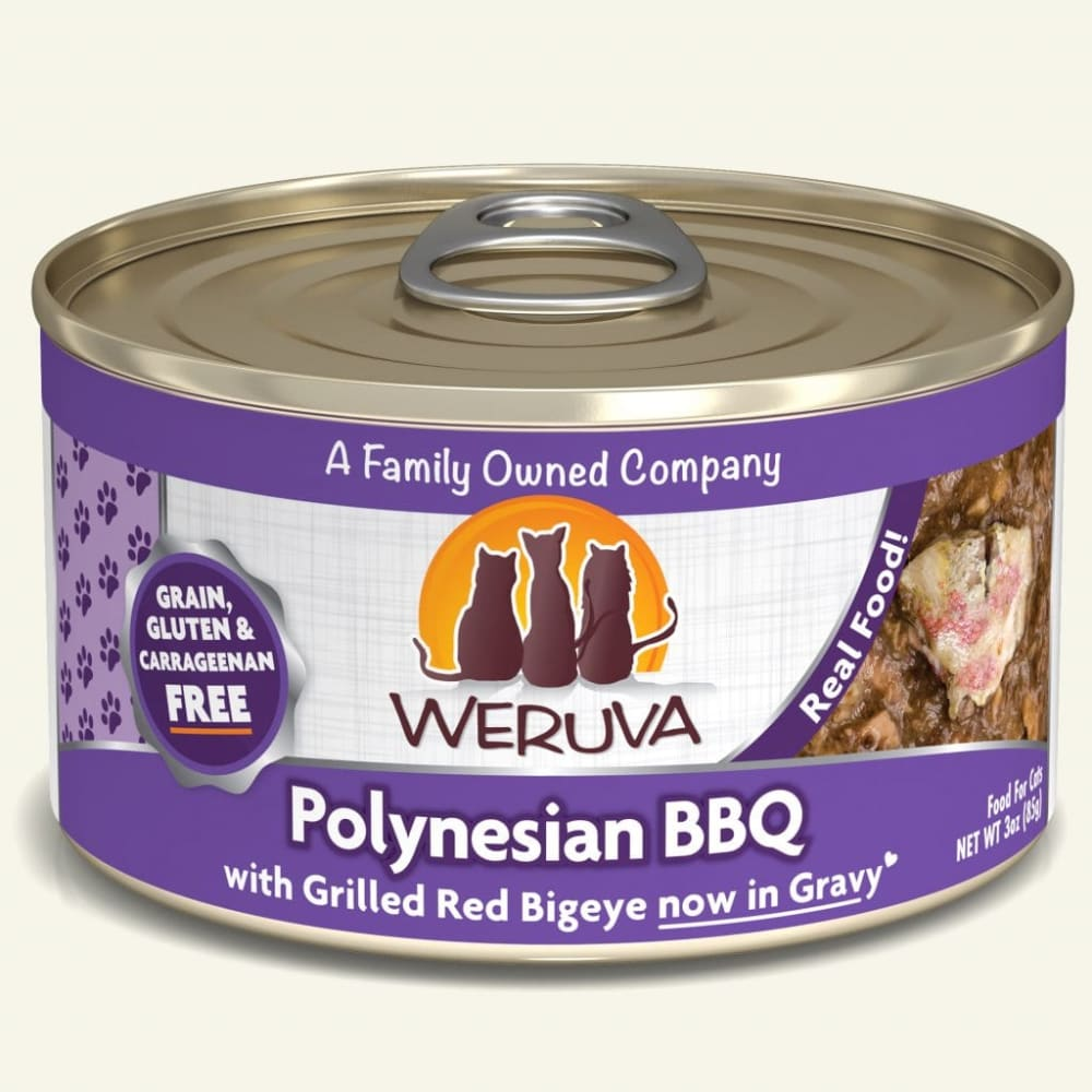 Weruva - Polynesian BBQ With Grilled Red Big Eye In Aspic Grain-Free Canned Cat Food