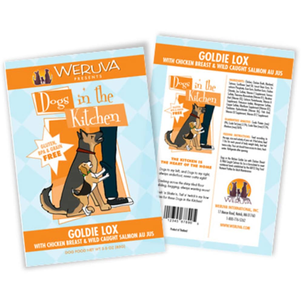 Weruva - Dogs In The Kitchen Goldie Lox Grain-Free Dog Food Pouch, 2.8oz