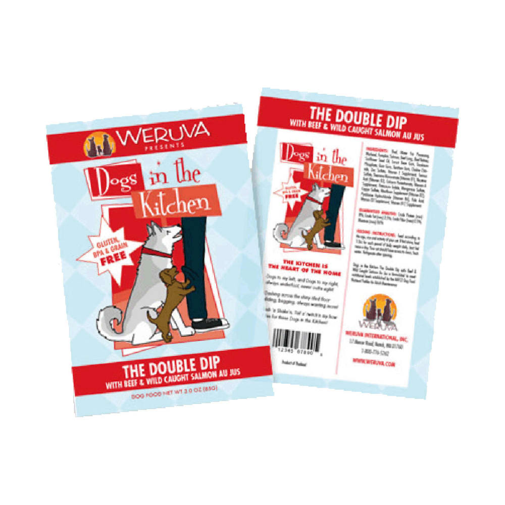 Weruva - Dogs In The Kitchen The Double Dip Grain-Free Dog Food Pouch, 2.8oz