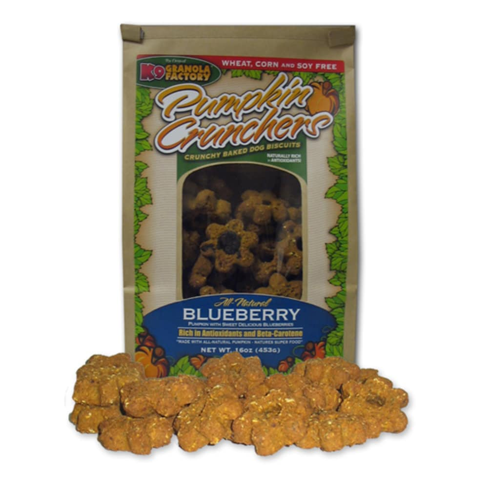 K9 Granola Factory - Pumpkin Crunchers With Blueberry Dog Treat, 14oz