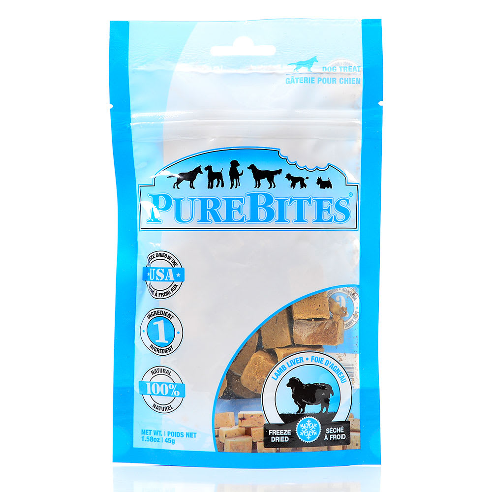 PureBites - Freeze-Dried Lamb Liver Grain-Free Dog Treats
