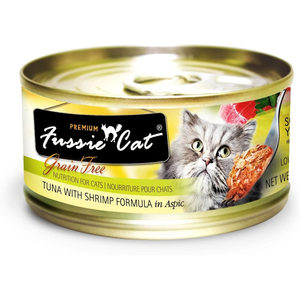 Fussie Cat - Premium Tuna With Shrimp Formula In Aspic Grain-Free Canned Cat Food