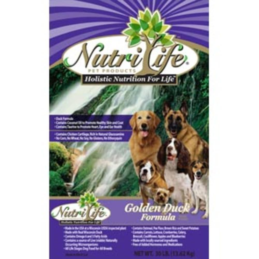 Nutri Life - Golden Duck Formula Dry Dog Food, 40lb