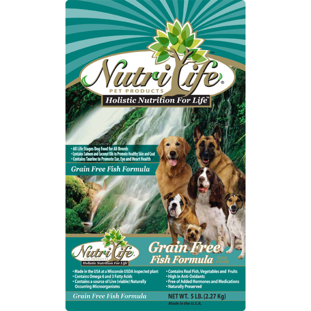 Nutri Life - Fish Formula Grain-Free Dry Dog Food, 40lb