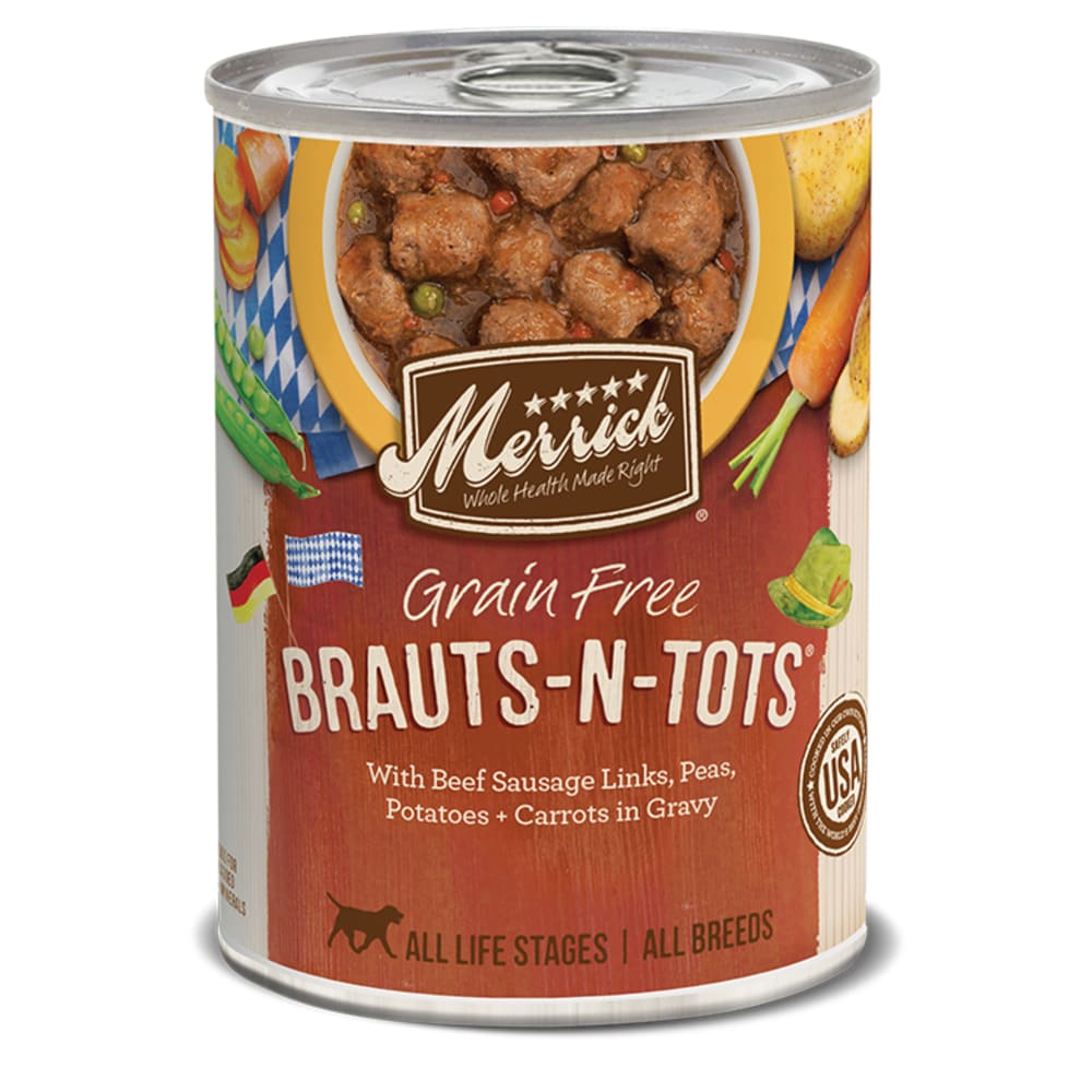 Merrick - Brauts-N-Tots Classic Recipe Grain-Free Canned Dog Food