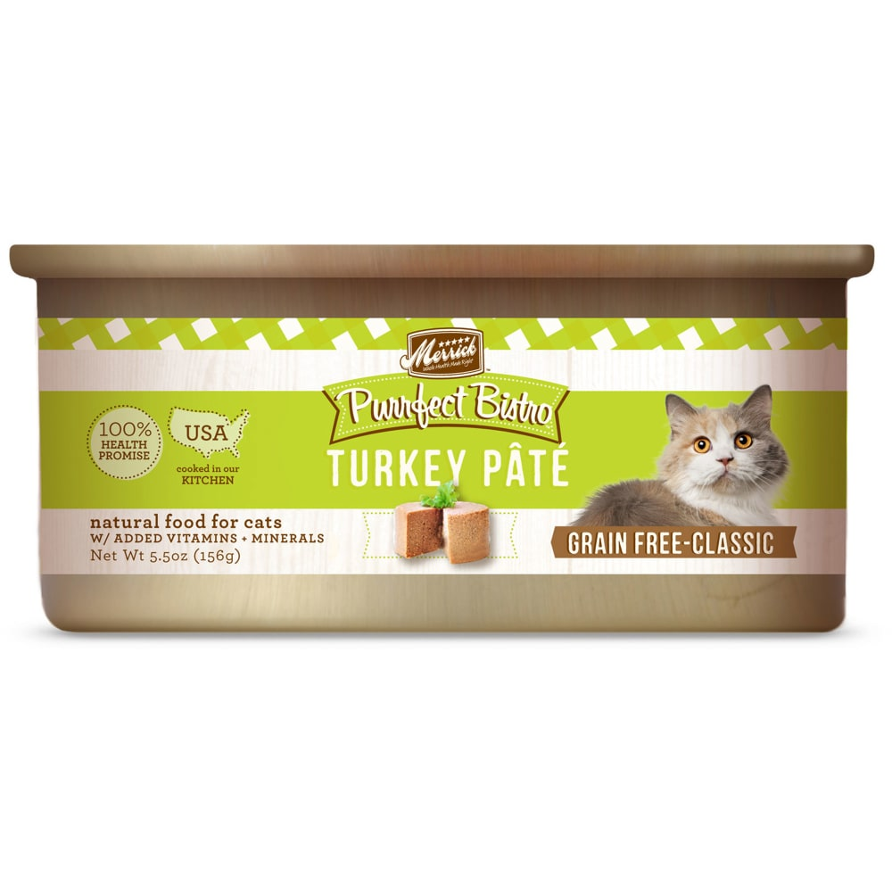 Merrick - Purrfect Bistro Turkey Pate Grain-Free Canned Cat Food