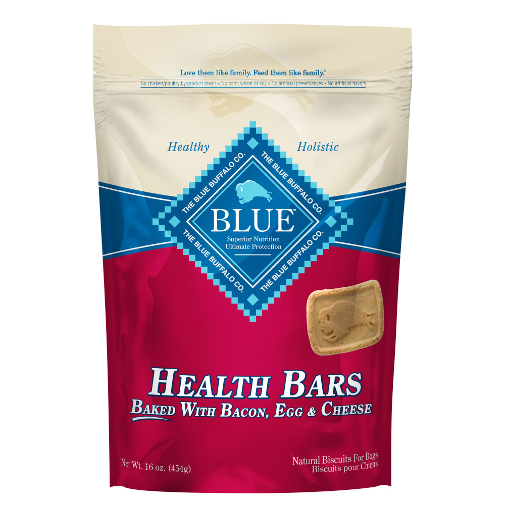 Blue Buffalo - Health Bars Baked With Bacon, Egg & Cheese Dog Treats, 16oz