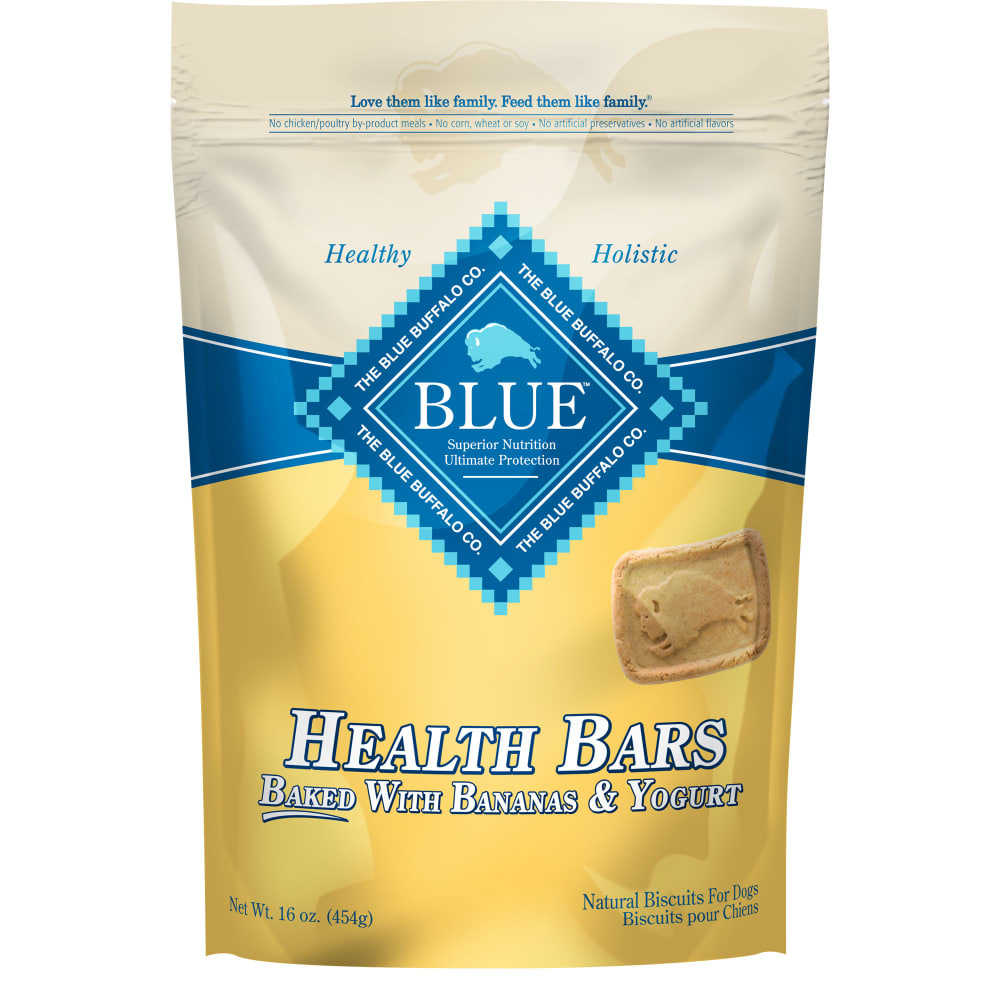Blue Buffalo - Health Bars Baked With Bananas & Yogurt Dog Treats, 16oz