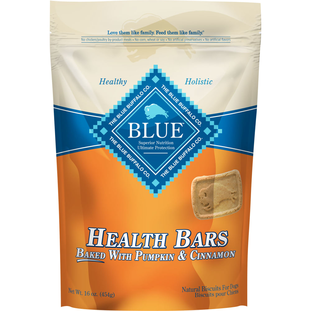 Blue Buffalo - Health Bars Baked With Pumpkin & Cinnamon Dog Treats, 16oz