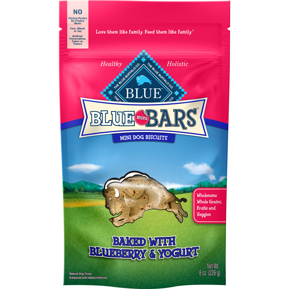 Blue Buffalo - Mini Blue Bars Baked With Blueberry & Yogurt Dog Treats, 8oz