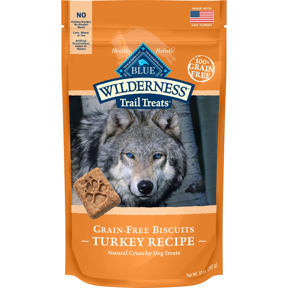 Blue Buffalo - Wilderness Trail Treats Turkey Recipe Grain-Free Dog Treats, 10oz