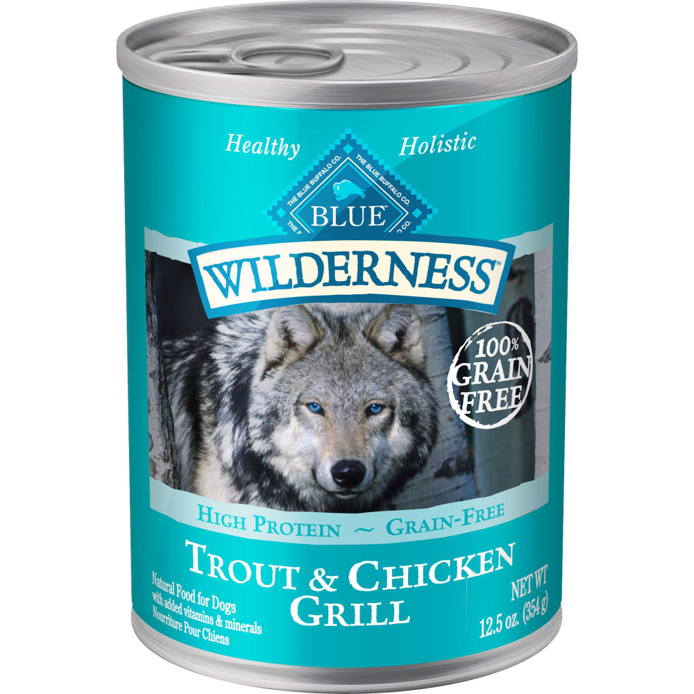 Blue Buffalo - Wilderness Trout & Chicken Grill Grain-Free Canned Dog Food
