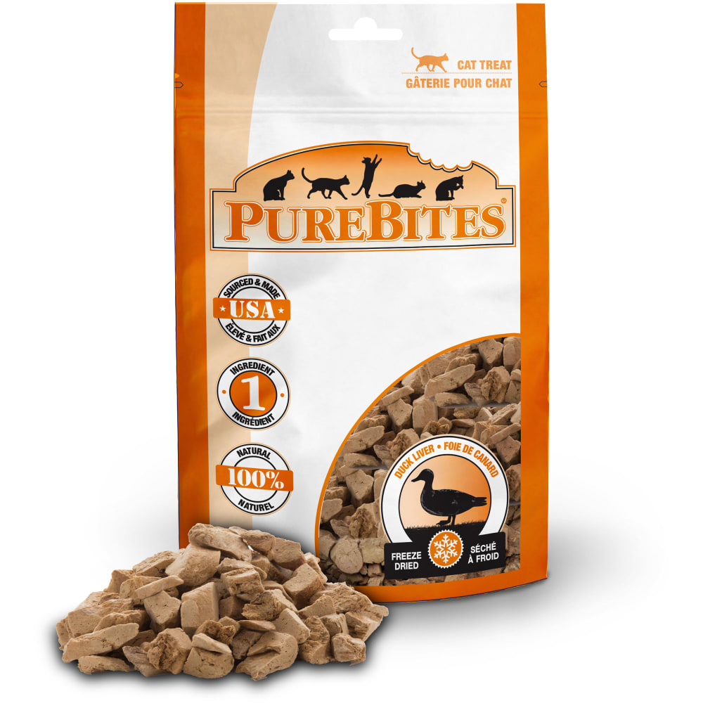 PureBites - Freeze-Dried Duck Liver Grain-Free Cat Treats, 0.56oz