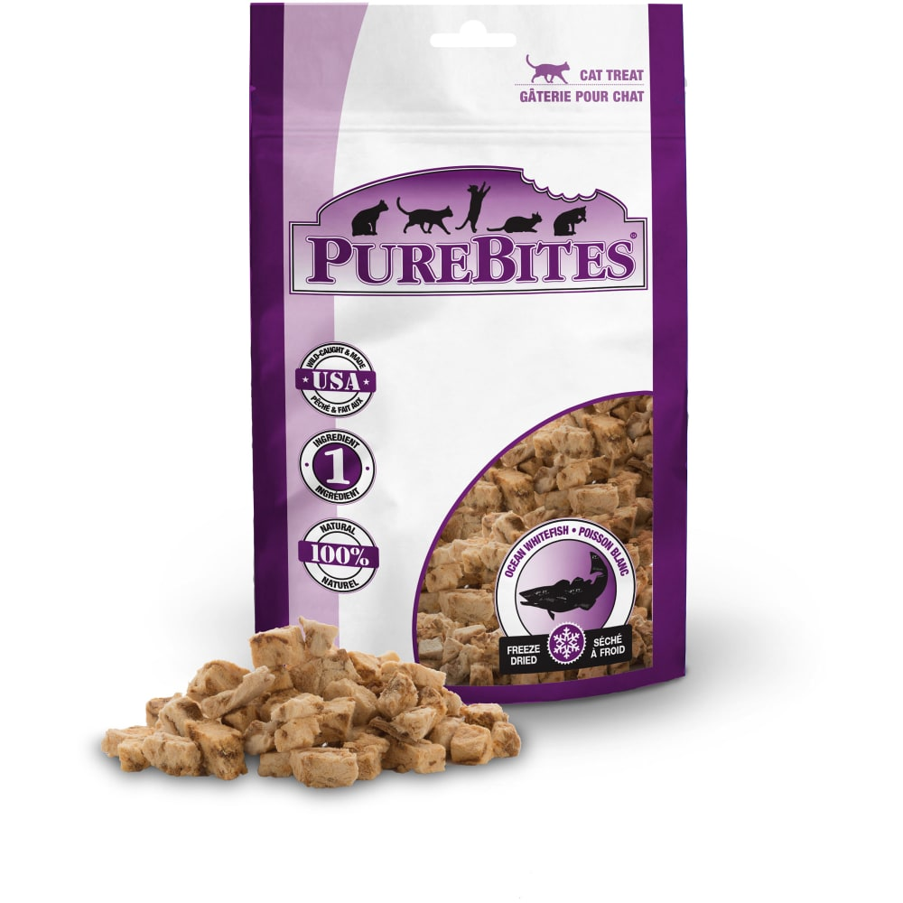 PureBites - Freeze-Dried Ocean Whitefish Grain-Free Cat Treats, 0.39oz