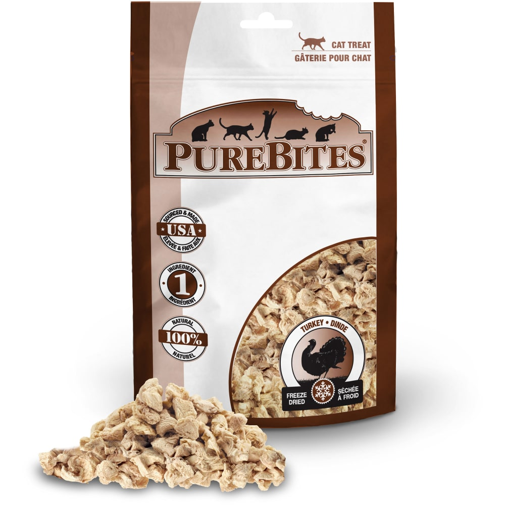 PureBites - Freeze-Dried Turkey Grain-Free Cat Treats, 0.49oz