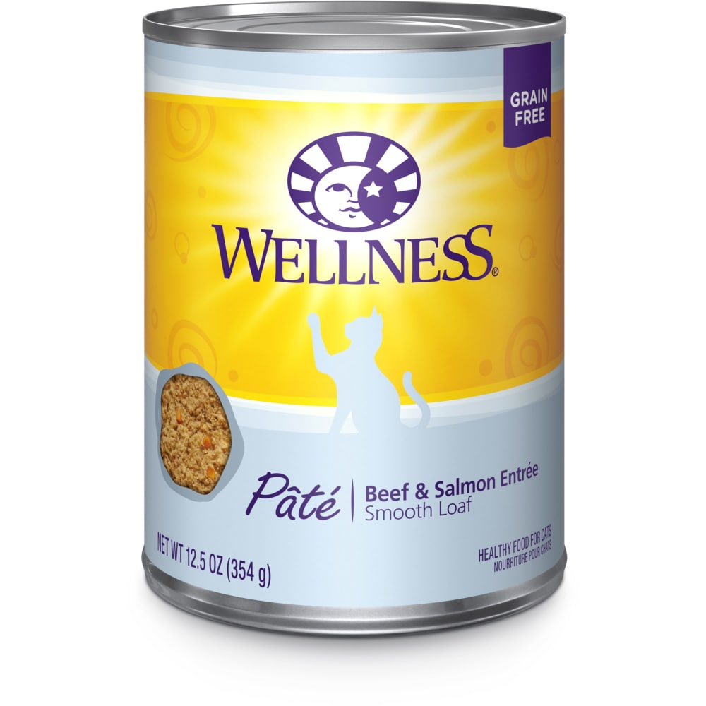 Wellness - Beef & Salmon Formula Grain-Free Canned Cat Food