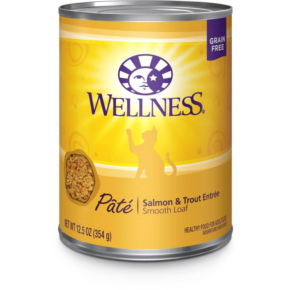 Wellness - Salmon & Trout Formula Grain-Free Canned Cat Food