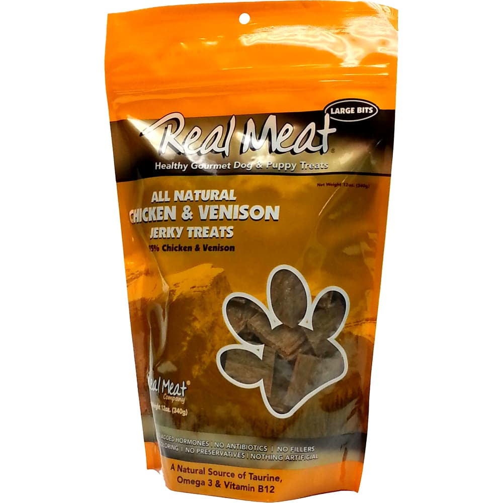 The Real Meat Company - Chicken & Venison Jerky Grain-Free Dog Treats