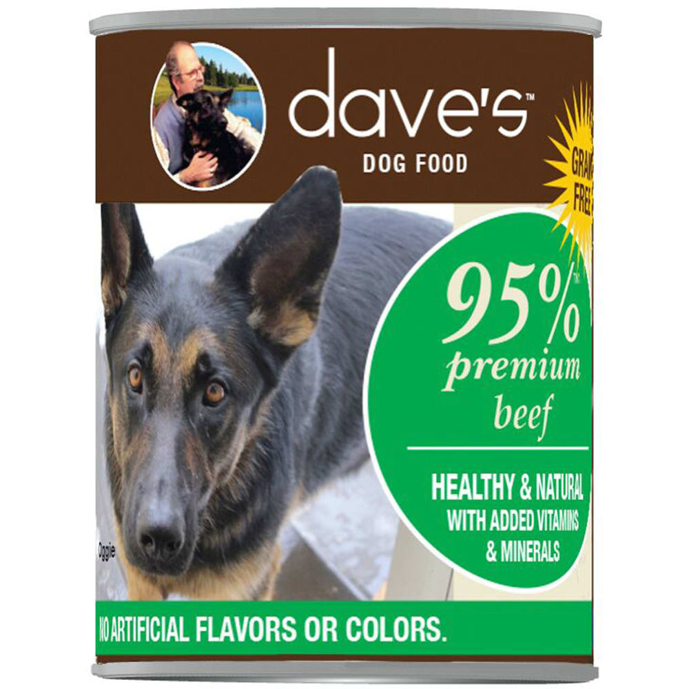 Dave's Pet Food - 95% Premium Beef Grain-Free Canned Dog Food