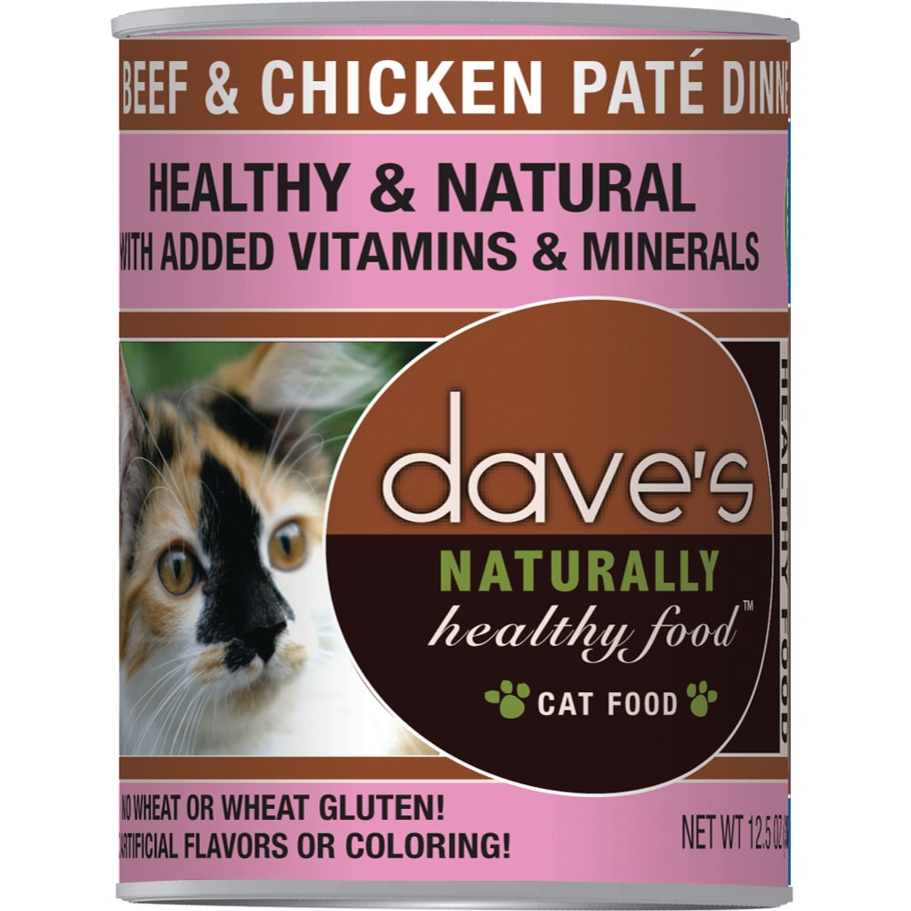 Dave's Pet Food - Naturally Healthy Beef & Chicken Pate Dinner Grain-Free Canned Cat Food