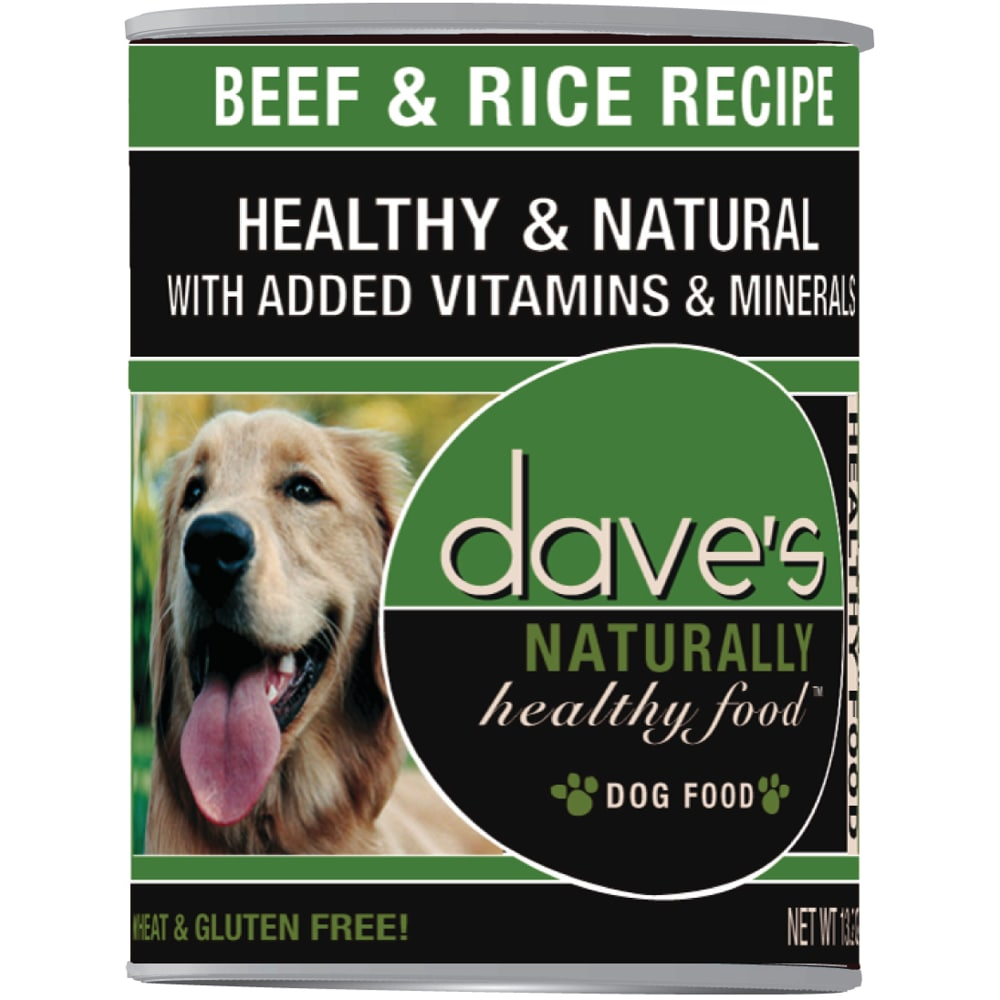 Dave's Pet Food - Naturally Healthy Beef & Rice Recipe Canned Dog Food