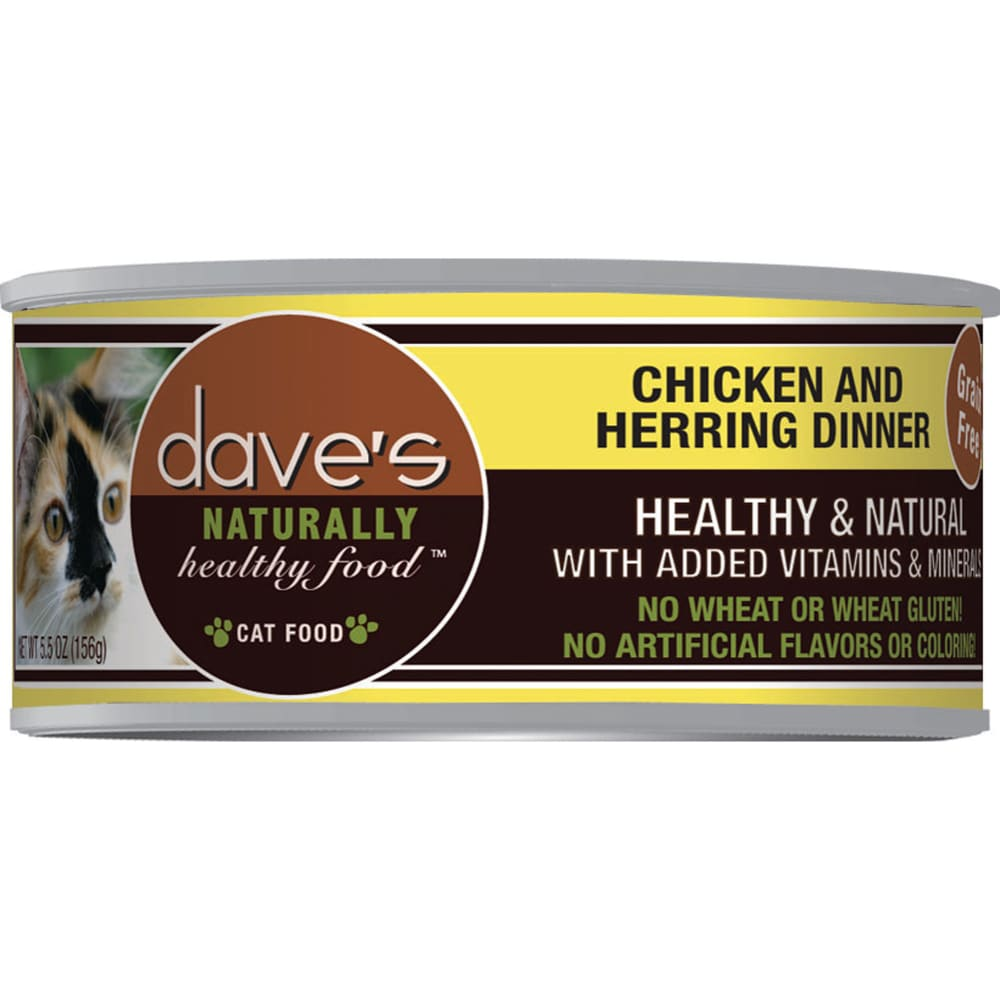 Dave's Pet Food - Naturally Healthy Chicken & Herring Dinner Grain-Free Canned Cat Food