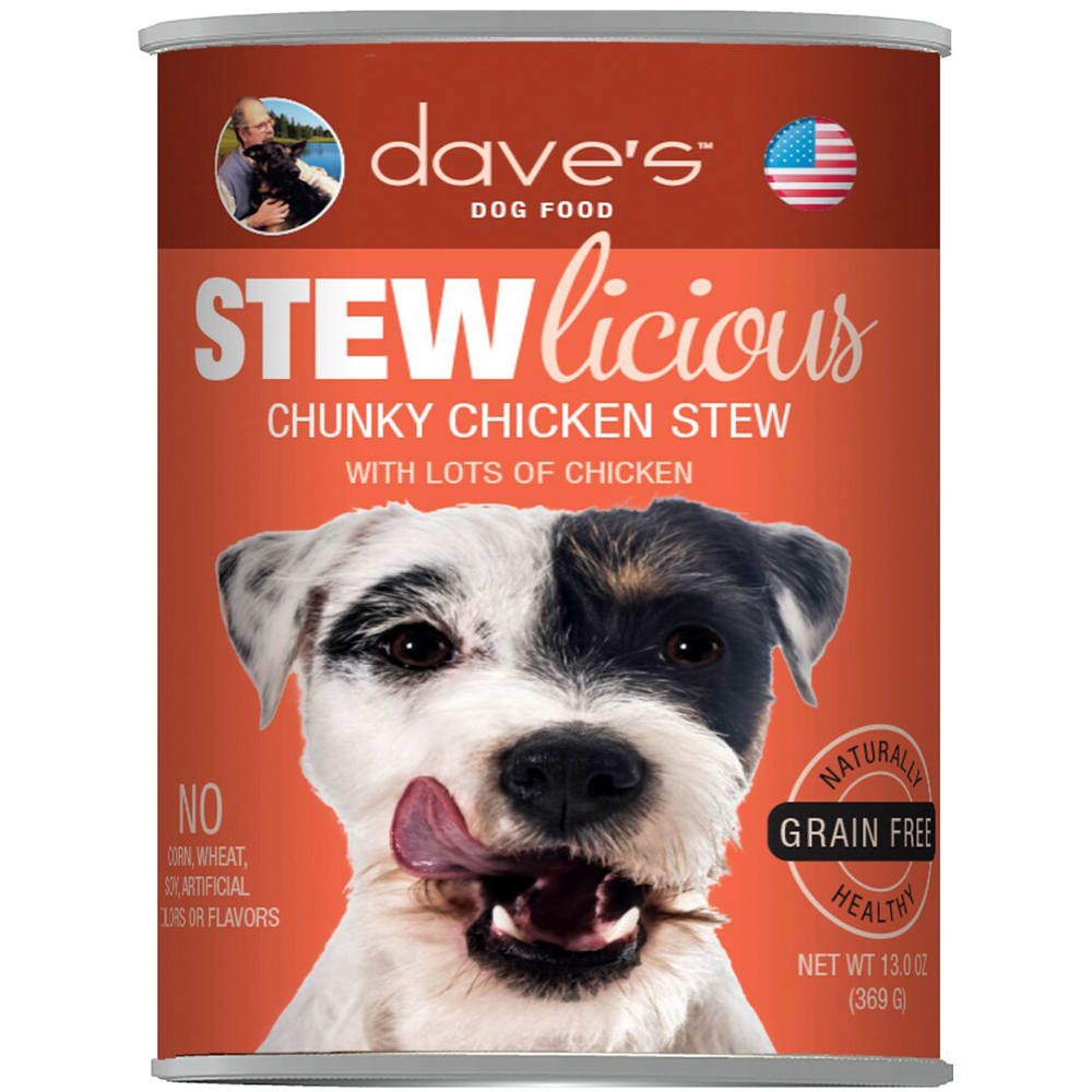 Dave's Pet Food - STEWlicious Chunky Chicken Stew Grain-Free Canned Dog Food