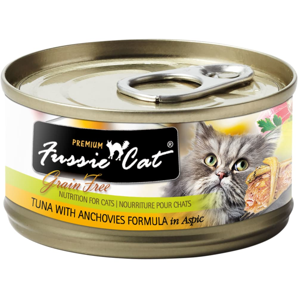 Fussie Cat - Premium Tuna With Anchovies Formula In Aspic Grain-Free Canned Cat Food