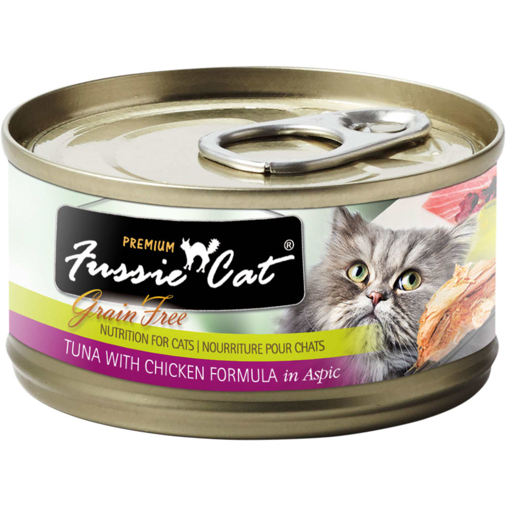 Fussie Cat - Premium Tuna With Chicken Formula In Aspic Grain-Free Canned Cat Food