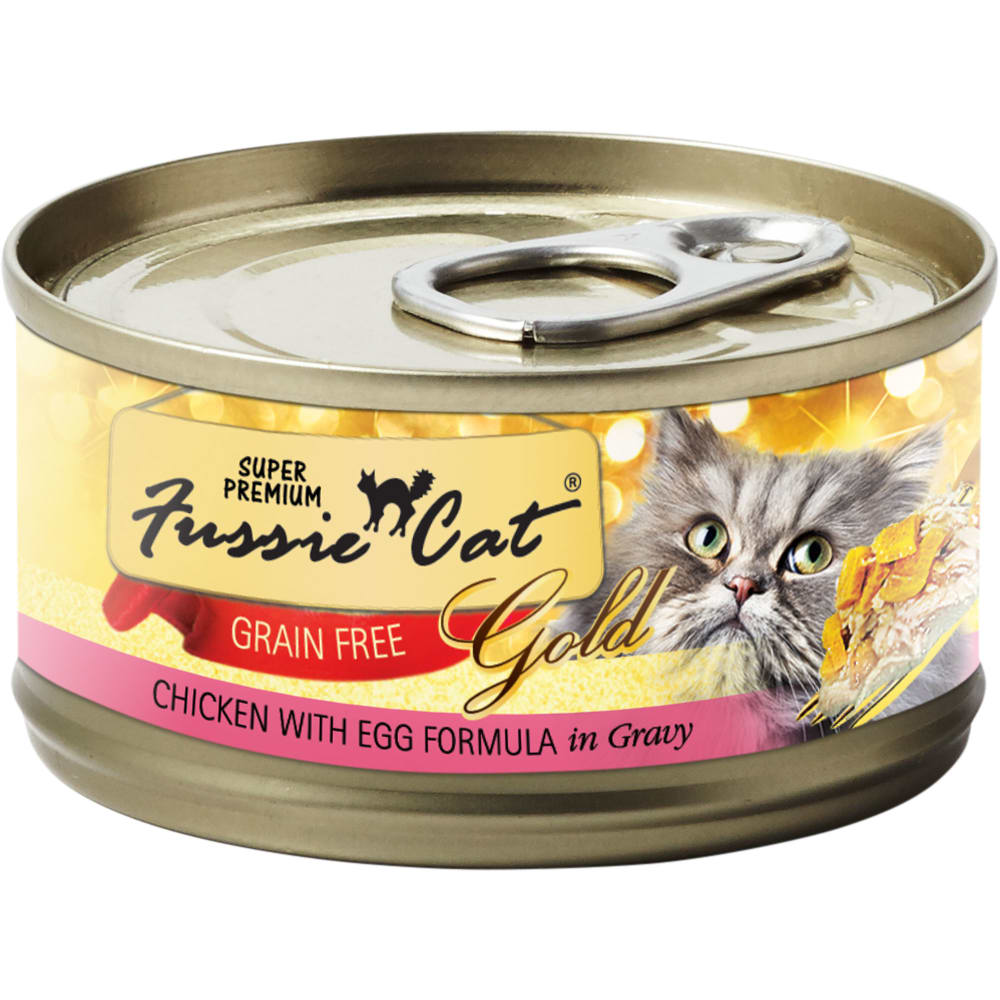 Fussie Cat - Super Premium Chicken With Egg Formula In Gravy Grain-Free Canned Cat Food