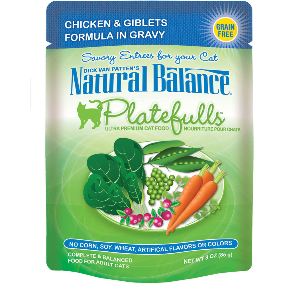 Natural Balance - Platefulls Chicken & Giblets Formula In Gravy Grain-Free Cat Food Pouch