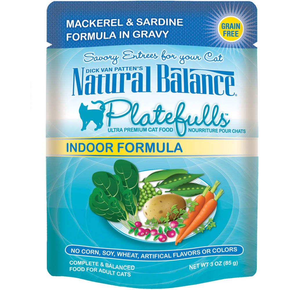 Natural Balance - Platefulls Mackerel & Sardine Formula In Gravy Grain-Free Cat Food Pouch