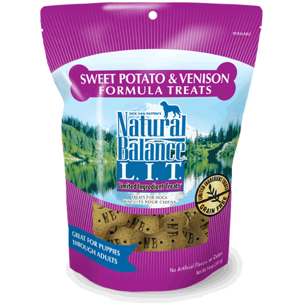 Natural Balance - Sweet Potato & Venison Formula Limited Ingredient Grain-Free Dog Treats, 14oz