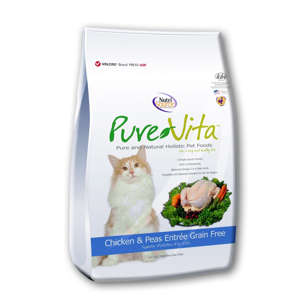 Pure Vita - Chicken & Peas Entree Grain-Free Dry Cat Food