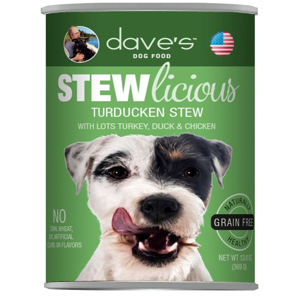 Dave's Pet Food - STEWlicious Turducken Stew Grain-Free Canned Dog Food