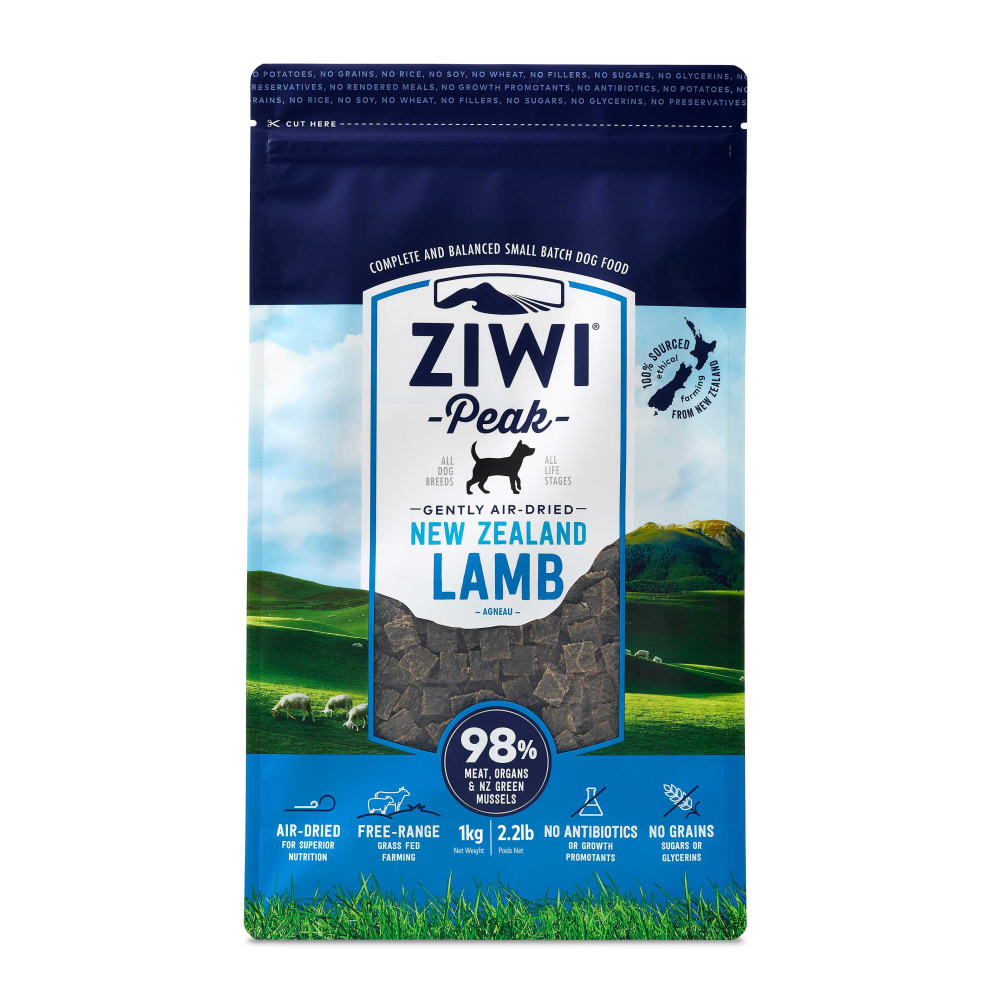Ziwi Peak - New Zealand Lamb Air-Dried Dog Food, 2.2lb