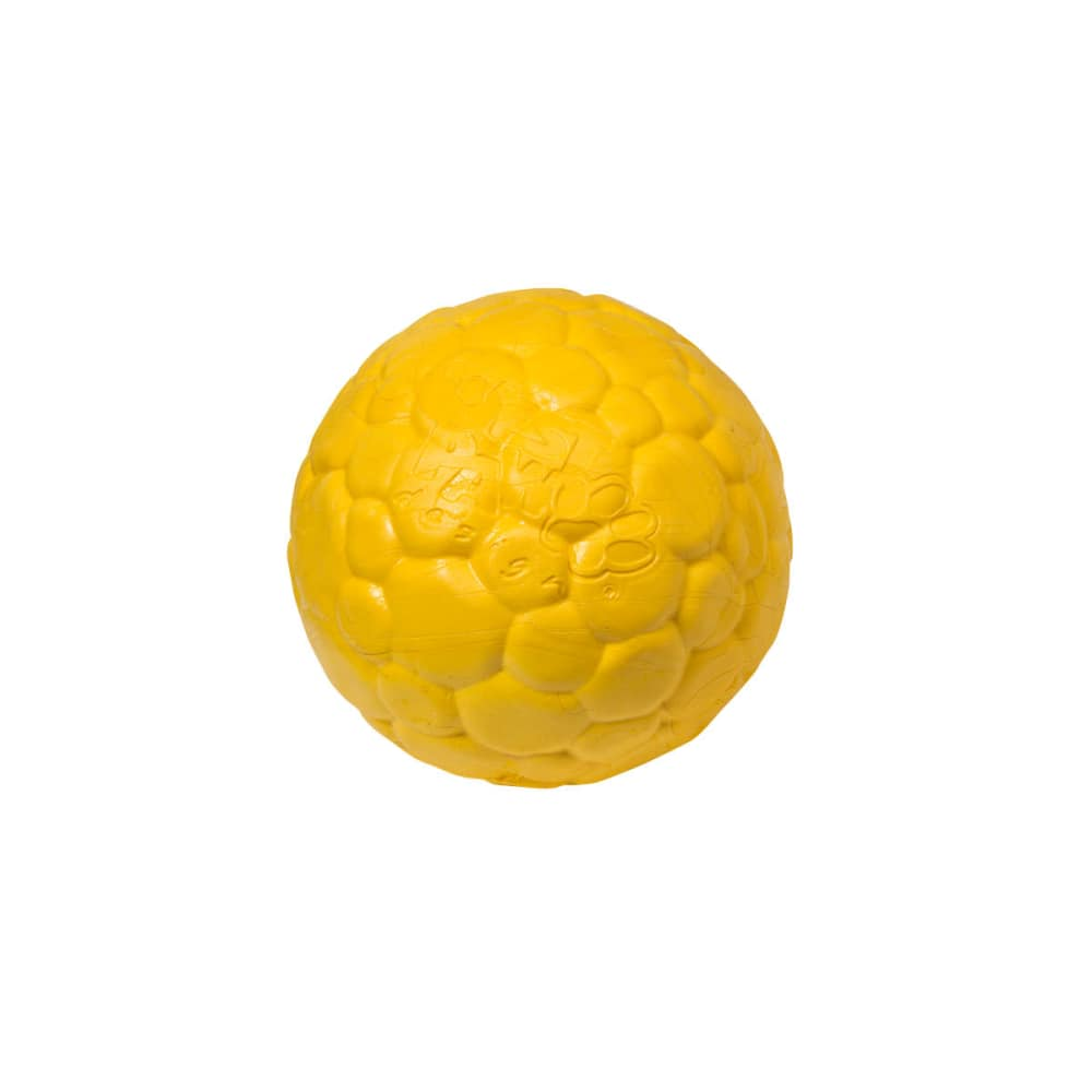 West Paw - ZogoFlex BOZ Chase & Fetch Ball In Dandelion Dog Toy, Large