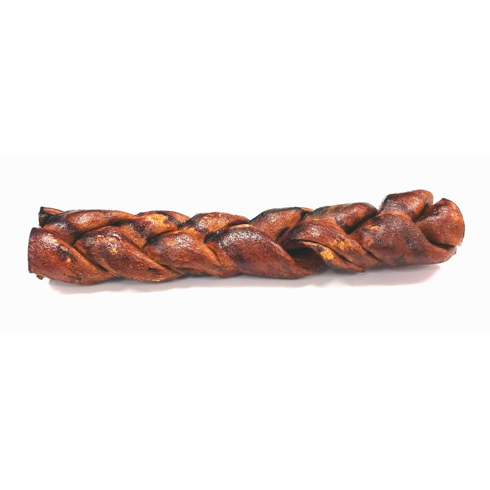 Calais - Peanut Butter Braided Rawhide Dog Chew, 12in
